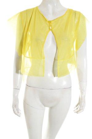 CLASS roberto cavalli Blusenjacke gelb Transparenz-Optik