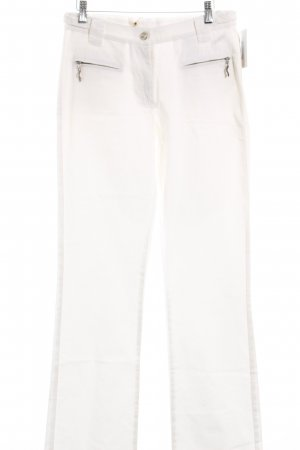 Roberto Cavalli Flares natural white simple style