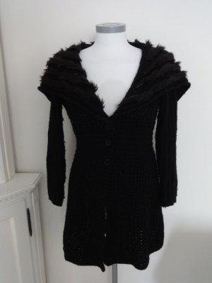Class Gebreide jas zwart Gemengd weefsel