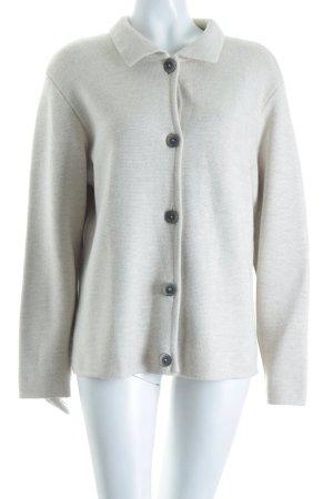 Classic Knitting Veste en tricot crème style décontracté