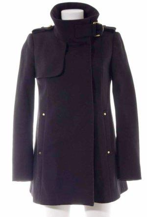 MNG Collection Abrigo corto negro-color oro Algodón