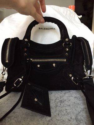 Balenciaga Bolso negro-color plata
