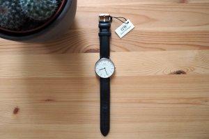 """Classic Sheffield"" Uhr, schwarz/roségold"