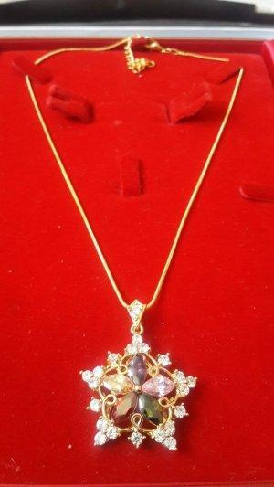 Classic Star Schmuck Frauen 18K Gold überzog hängende Halsketten