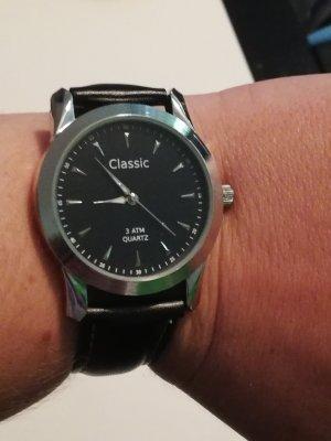 Classic Uhr, schwarz, neu