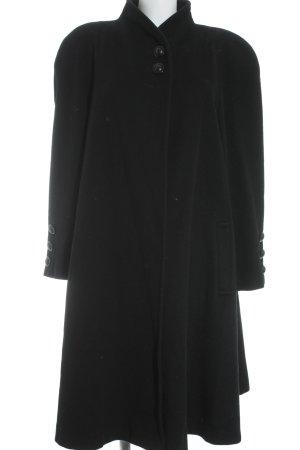 Classic Wollmantel schwarz klassischer Stil