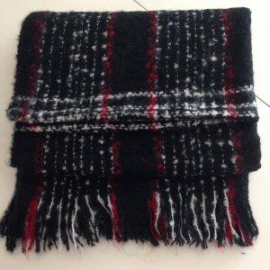 classico schal rot schwarz wei kariert extra dick mischwolle scarf. Black Bedroom Furniture Sets. Home Design Ideas