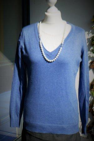 Classics meet Trends: Pullover, rauchblau (M/38/40)