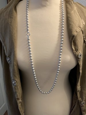 Pierre Lang Pearl Necklace light grey-silver-colored