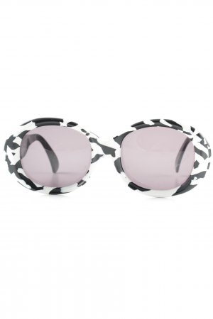 Claude Montana Retro Glasses white-black abstract pattern extravagant style