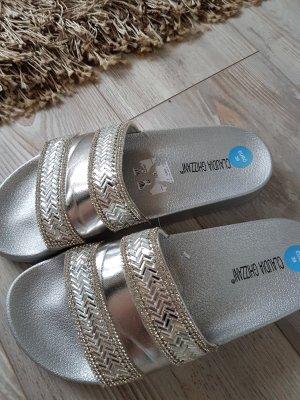 Claudia Ghizzani Schuhe in Silber ,große 39