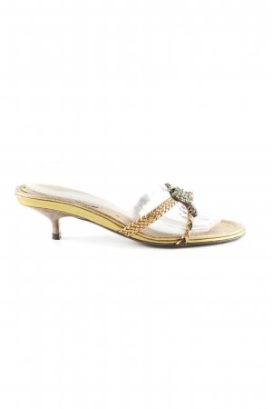 Claudia Obert Strapped High-Heeled Sandals gold-colored elegant