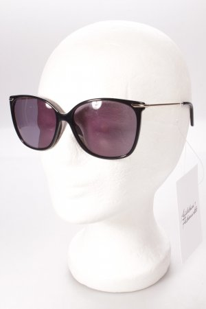 Claudia schiffer eckige Sonnenbrille schwarz klassischer Stil