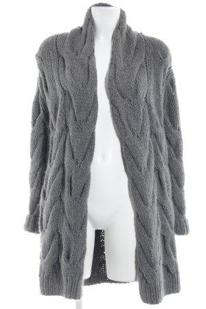 Claudia Schiffer Veste tricotée en grosses mailles gris style décontracté