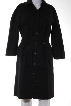 Claudia Schiffer Hemdblusenkleid schwarz Casual-Look