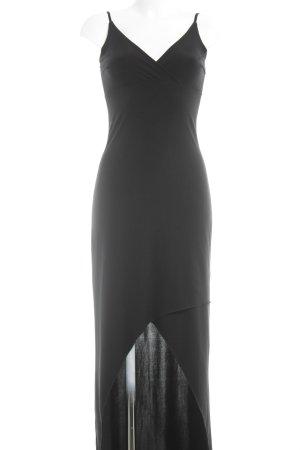 Claudia Schiffer Trägerkleid schwarz schlichter Stil