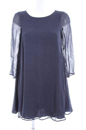 Claudie Pierlot A-Linien Kleid blau-weiß Allover-Druck Casual-Look