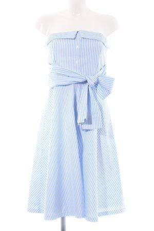 Claudie Pierlot Bandeaukleid blau-weiß Streifenmuster Casual-Look