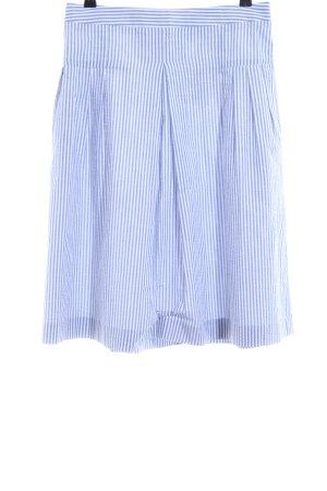 Claudie Pierlot Jupe taille haute bleu-blanc motif rayé style décontracté