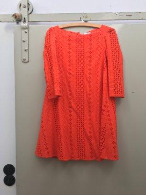 Claudie Pierlot Kleid Babydoll Alinienkleid rot Größe 36