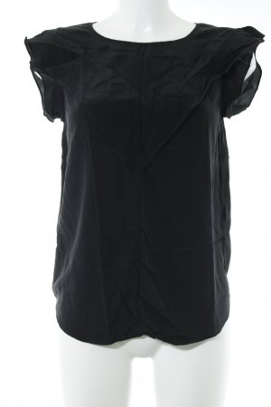 Claudie Pierlot Kurzarm-Bluse schwarz Business-Look