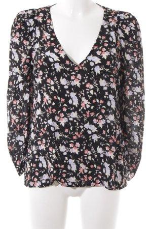 Claudie Pierlot Langarm-Bluse florales Muster Beach-Look