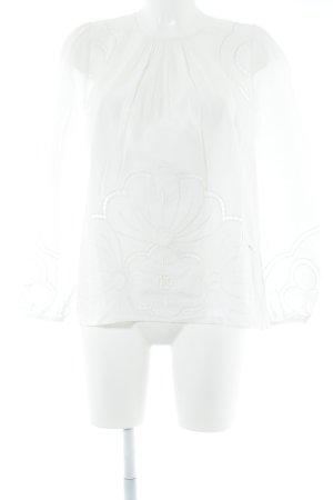 Claudie Pierlot Langarm-Bluse weiß Casual-Look