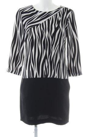 Claudie Pierlot Minikleid weiß-schwarz abstrakter Druck extravaganter Stil