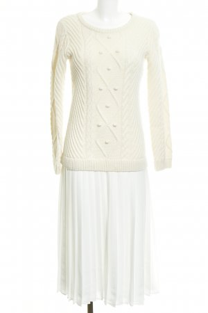 Claudie Pierlot Sweater Dress cream-white cable stitch extravagant style