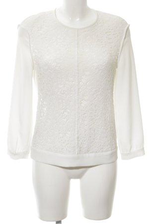 Claudie Pierlot Blouse en dentelle blanc cassé motif floral élégant