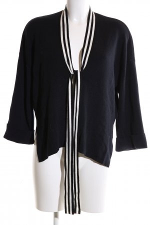 Claudie Pierlot Strick Cardigan schwarz-weiß Streifenmuster Business-Look