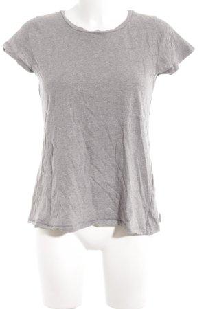 Claudie Pierlot T-Shirt grau-weiß florales Muster Casual-Look
