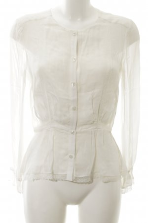 Claudie Pierlot Transparenz-Bluse weiß Casual-Look