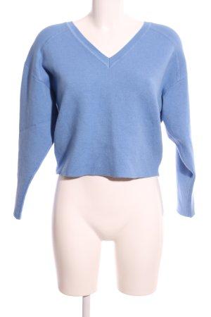 Claudie Pierlot Maglione con scollo a V blu stile casual