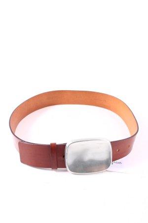 Claudio Orciani Cintura di pelle marrone stile da moda di strada