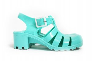 Cleated Platform Ankle Strap Sandals