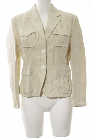 Clément Wool Blazer cream striped pattern vintage look