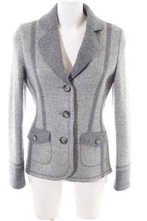 Clément Blazer in lana grigio chiaro-bianco stampa integrale stile casual