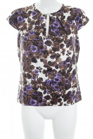 Clements Ribeiro Short Sleeved Blouse floral pattern elegant