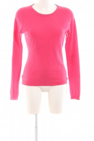 Clements Ribeiro Knitted Sweater pink-black themed print casual look