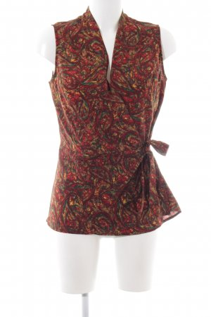 Clements Ribeiro Wickel-Bluse rot-blassgelb Allover-Druck Casual-Look