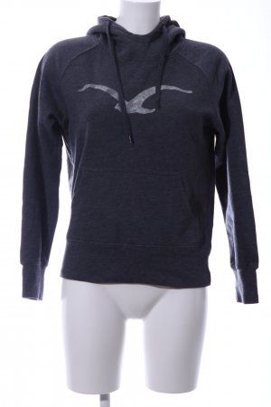 Cleptomanicx Hooded Sweater black-light grey flecked casual look