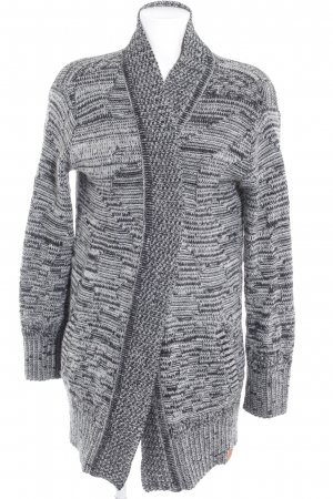 Cleptomanicx Knitted Cardigan black-white casual look