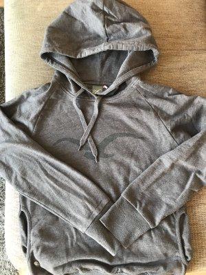 Cleptomanicx Pull à capuche gris brun