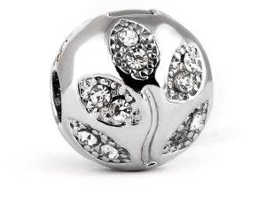 Charm silver-colored-white