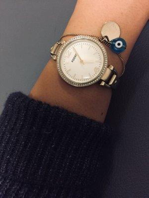 Cliparmband Uhr mit Zirkoniasteinchen Edelstahl Gold
