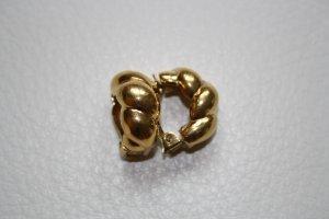 Pendientes de clip color oro metal
