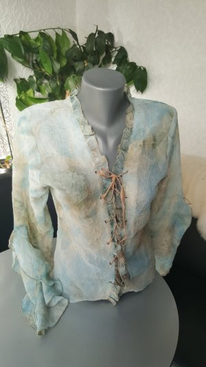 Clockhouse Bluse mit Schnürung Lederband Farbverlauf