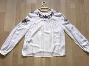 Clockhouse Bluse weiss Stickerei Gr. 40