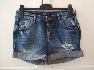 Clockhouse Boyfriend Shorts Gr. 36 Jeansshorts dunkelblau Used-Look